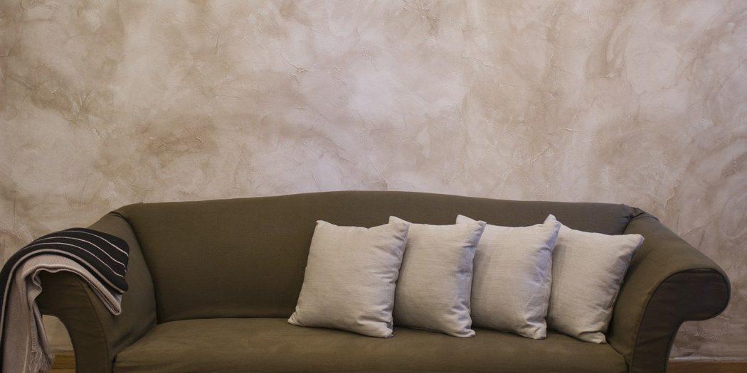 kamień na ścianie salon