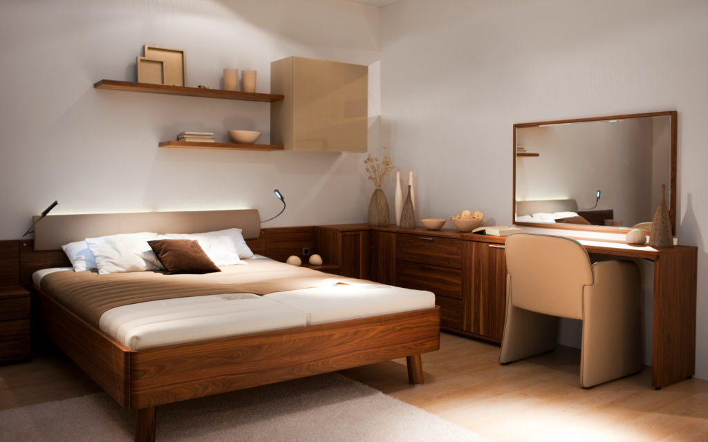 Stylowo urządzona sypialnia