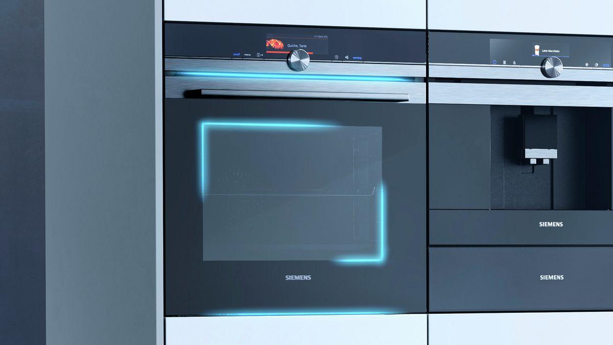 Zbliżenie na piekarnik Siemens