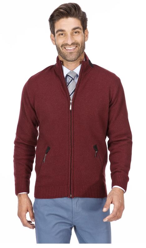 elegancki sweter męski bordowy