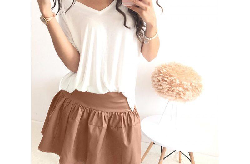 spódnica w stylizacji na wiosnę