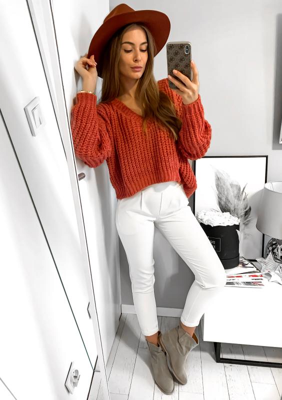 sweter z moherem