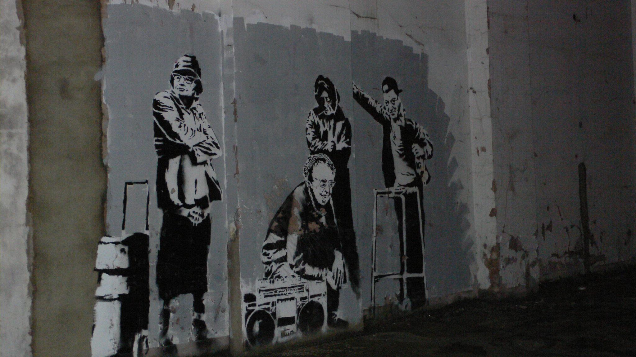 Graffiti autorstwa Banksy'iego, Clerkenwell, Londyn