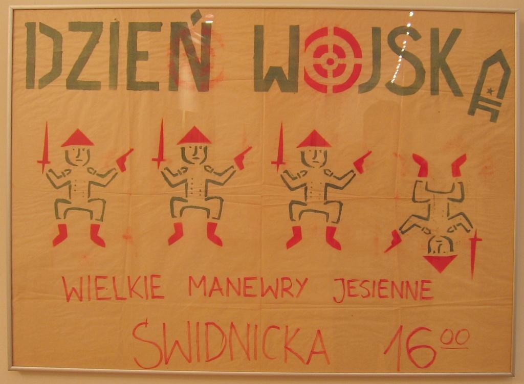 """Plakat """"Pomarańczowej Alternatywy"""""""