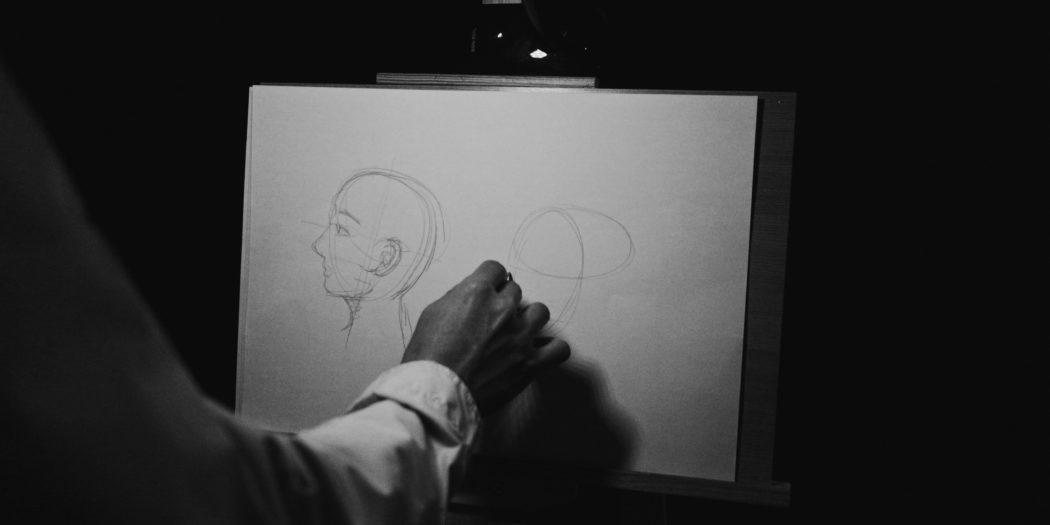 rysowanie profilu człowieka