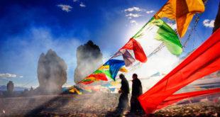 Tybet święto nad jeziorem Namtso
