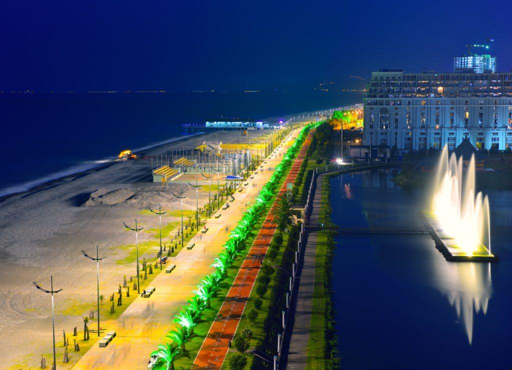 Nadmorski bulwar w Batumi