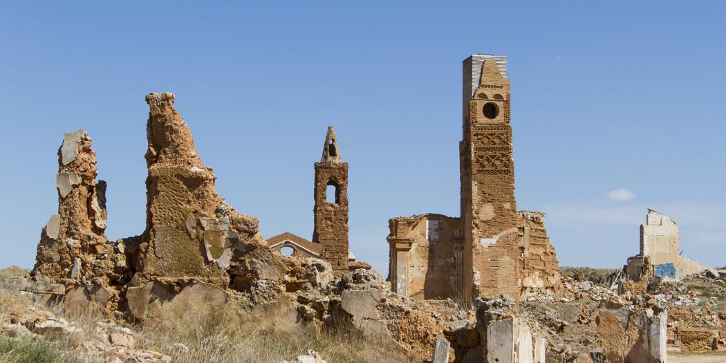 Belchite j słynie z ruin starego miasta