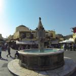 Rodos, fontanna