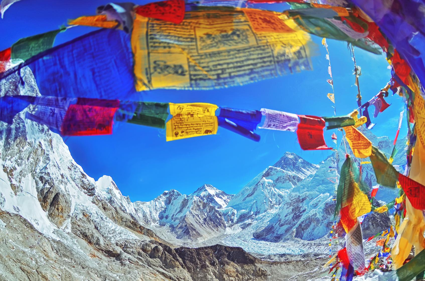 Mount Everest i Nuptse
