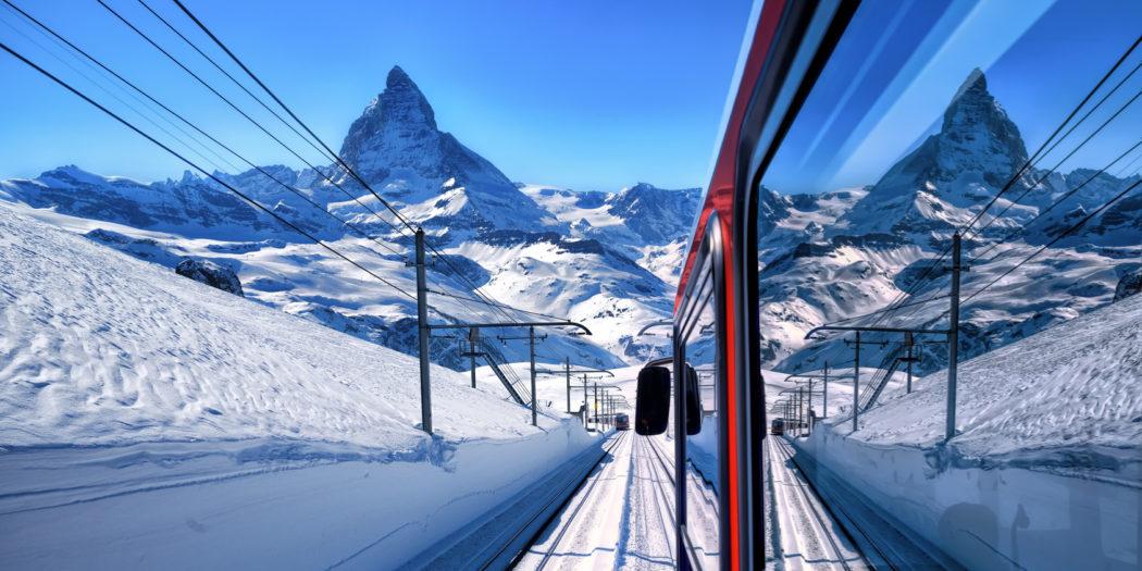 widok na Matterhorn, Gornergrat, Zermatt, Szwajcaria