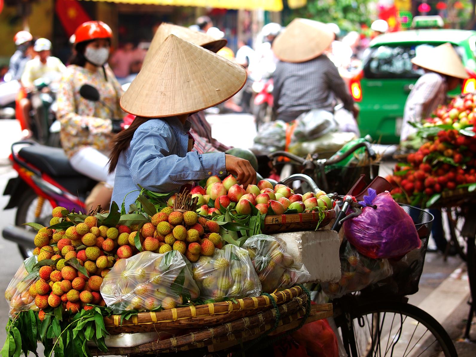 Wietnam, uliczni handlarze