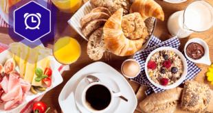 Śniadanie - nakryto do stołu