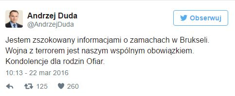 kondolencje prezydent Duda