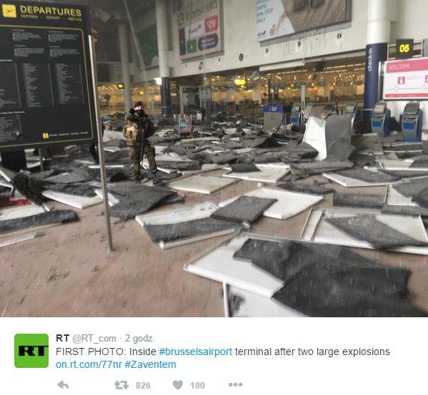 Lotnisko Bruksela zamach