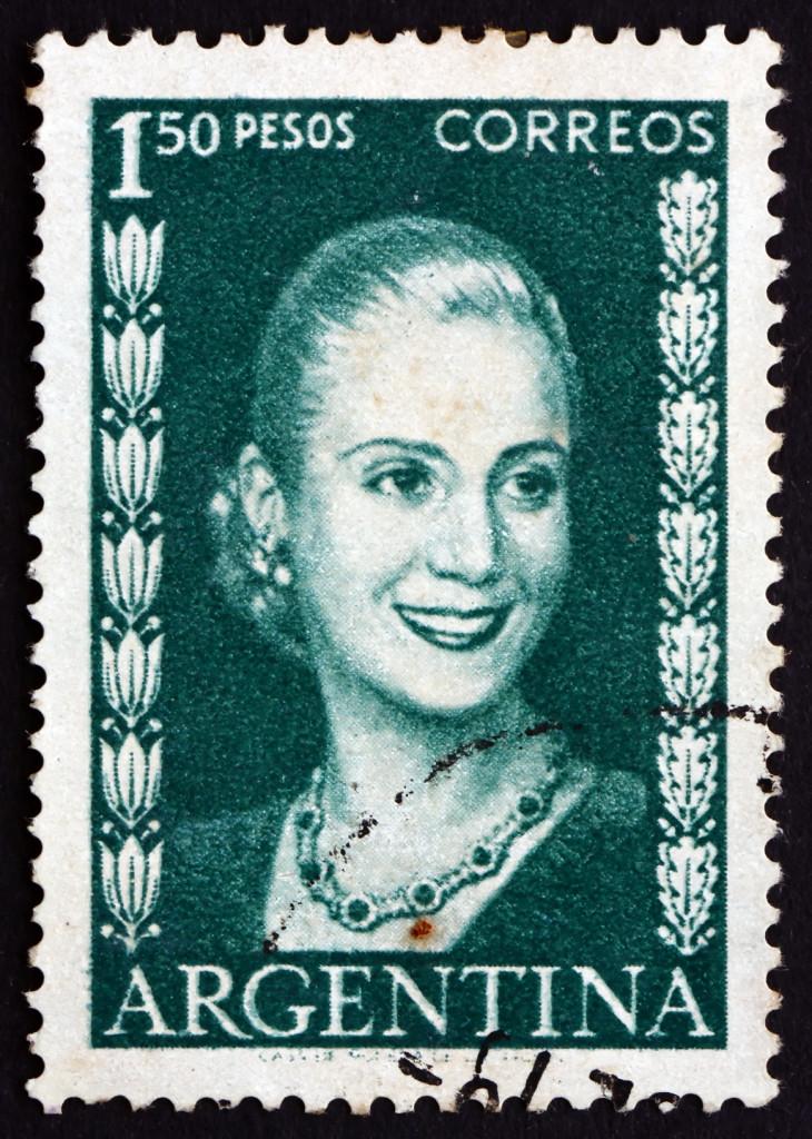 Eva Peron, Evita, znaczek pocztowy z 1952 r | fot.: Fotolia