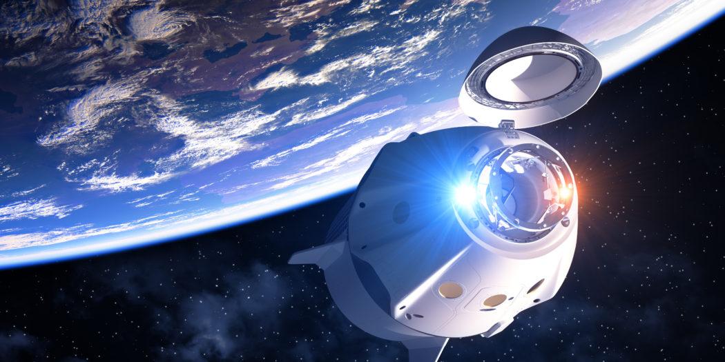 statek kosmiczny na orbicie ziemi