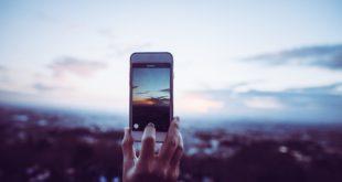 zdjęcie telefonem wschód słońca