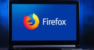 laptop z przeglądarką Mozilla Firefox