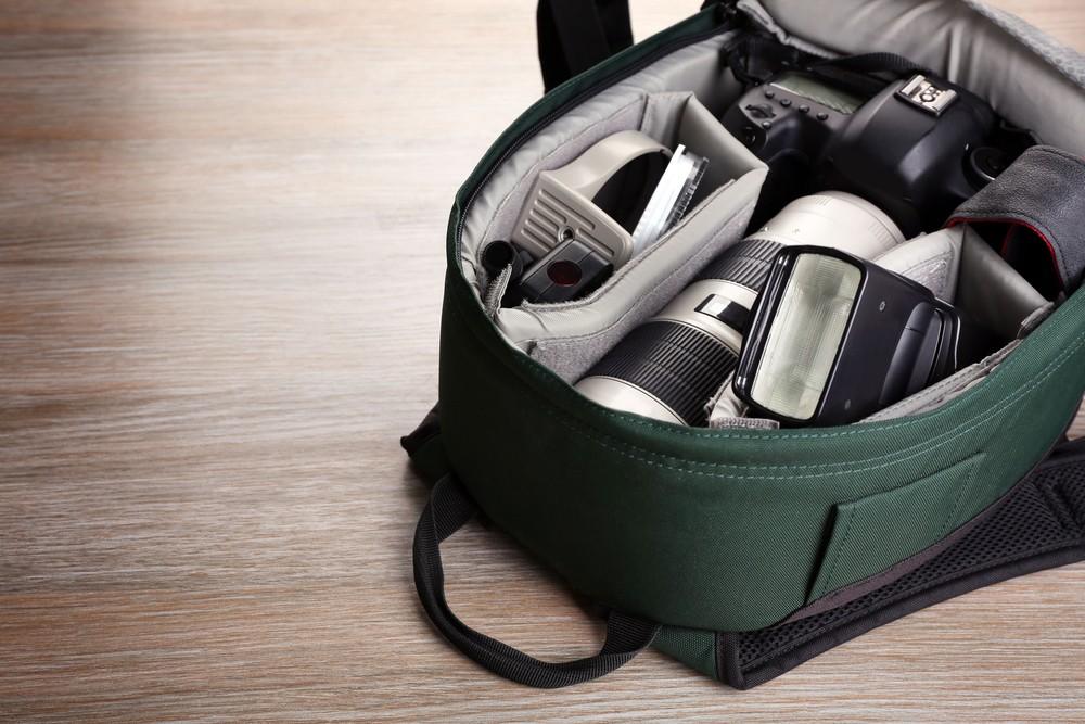 Obiektywy w plecaku