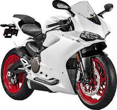 Biały motocykl