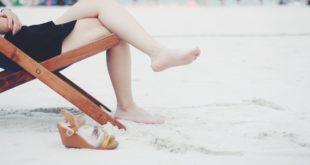 Kobieta z wydepilowanymi nogami