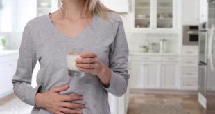 Laktoza - kobieta z mlekiem