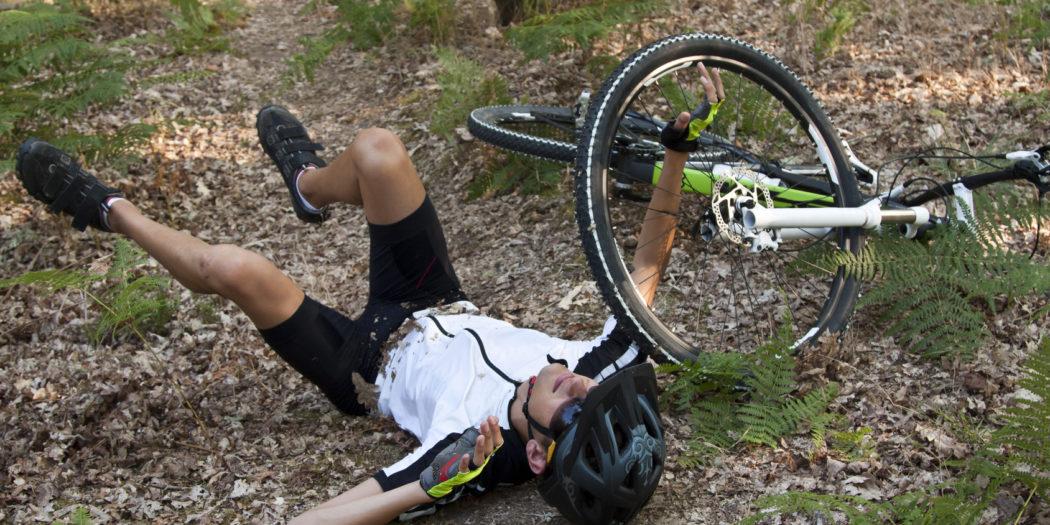 Wybity ząb na rowerze