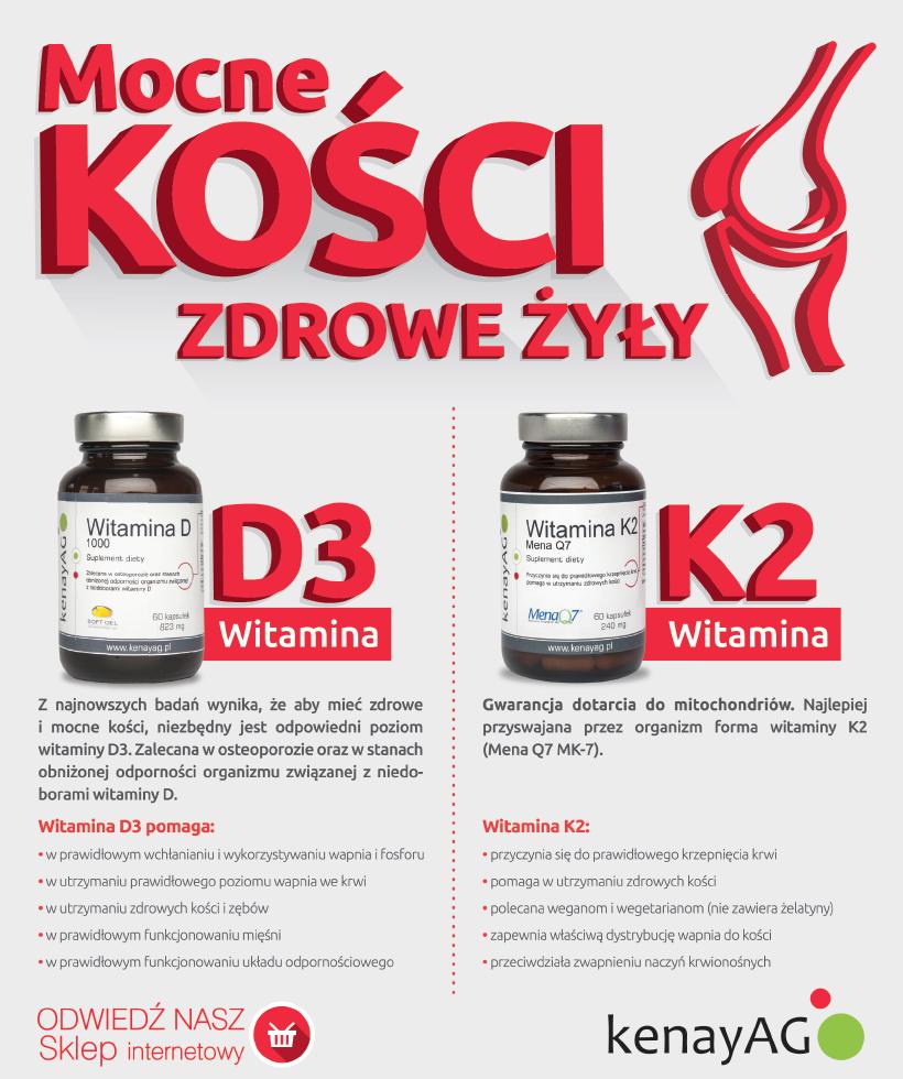 D3 - K2 - suplementy diety